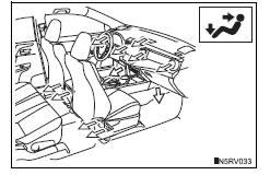 Toyota RAV4. Upper body and feet