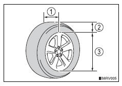 Toyota RAV4. Tire dimensions