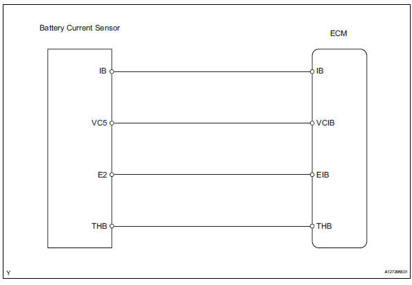 battery current sensor circuit  wiring diagram  toyota rav4  wiring diagram
