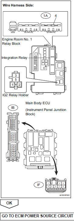 Toyota RAV4 Service Manual: Fuel pump control circuit