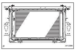 Toyota RAV4. Install upper radiator support subassembly