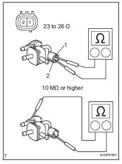 Toyota RAV4. Inspect purge vsv