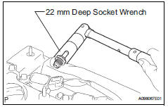 Toyota RAV4. Remove ventilation valve sub-assembly