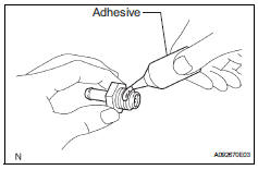 Toyota RAV4. Install ventilation valve sub-assembly