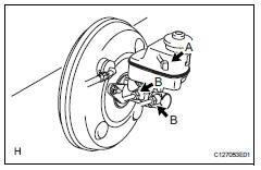 Toyota RAV4 Service Manual: Brake master cylinder - Brake