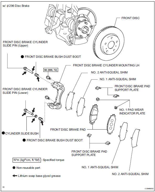 toyota rav4 service manual front brake brake rh trav4 net Chevy Disc Brake Caliper Diagram 1965 Mustang Disc Brake Diagram