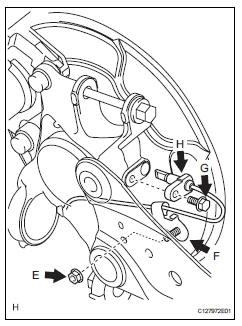 Toyota RAV4. Remove rear speed sensor lh
