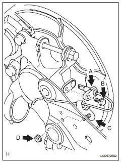 Toyota RAV4. Install rear speed sensor lh