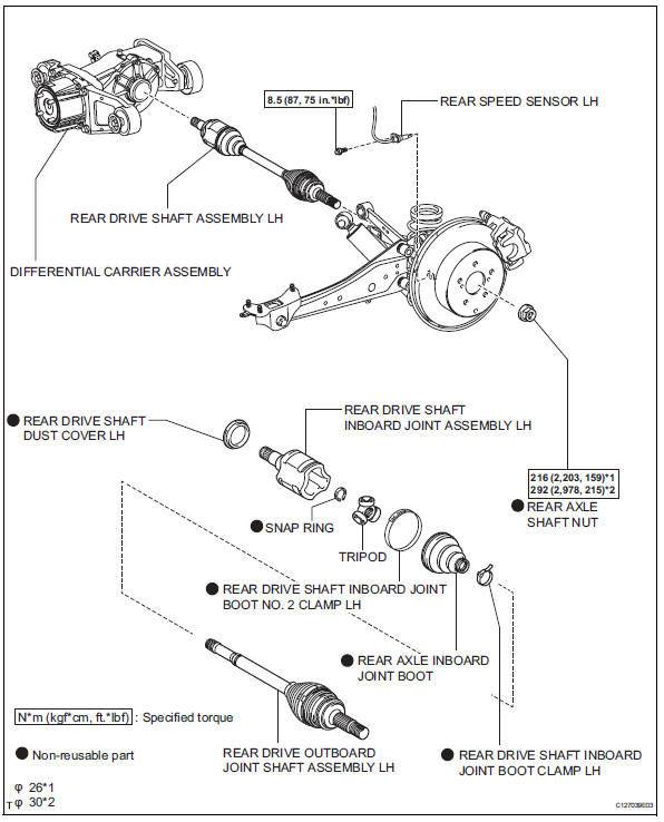 2.htm156 toyota rav4 service manual rear drive shaft assembly drive shaft