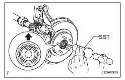 Toyota RAV4 Service Manual: Front axle hub - Axle