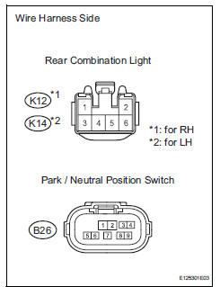 Toyota RAV4 Service Manual: Back-up light circuit - Data ... on