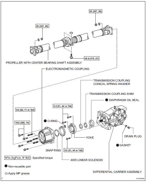 Toyota RAV4. Diaphragm oil seal