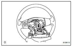 Toyota RAV4. Install steering pad assembly