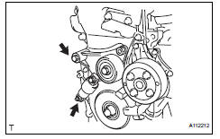 toyota rav4  install v-ribbed belt tensioner assembly